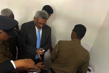Gotabhaya fingerprinted at Special High Court..