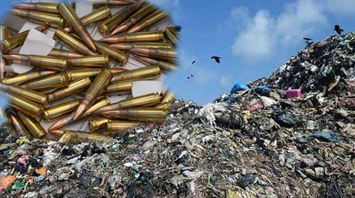 T-56 ammunition found at Meethotamulla garbage dump