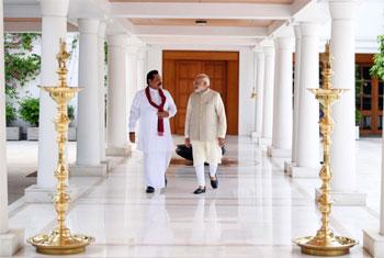 Rajapaksa meets Modi...