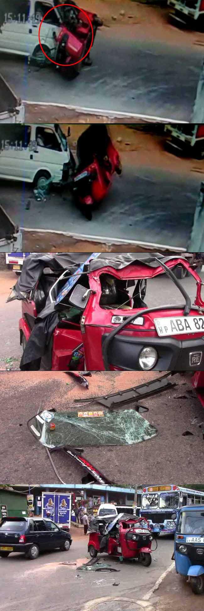 CCTV: Drunken three-wheeler driver hits school van, kills one