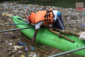 Clean-up at Maussakele Reservoir...