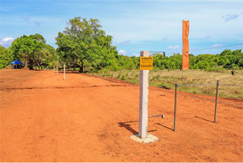 30km electric fence in Gomarankadawala...