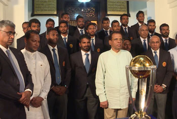 ICC World Cup Trophy handed over to President...