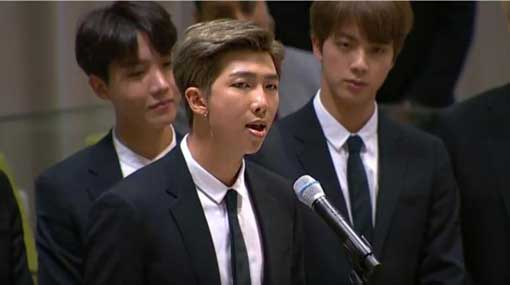 K-Pop band BTS tells world youth to 'speak yourself' at UN