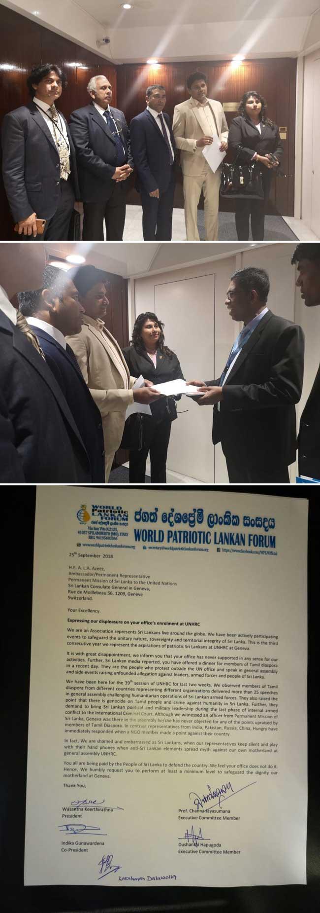 WPLF expresses displeasure at SL diplomats' conduct in Geneva