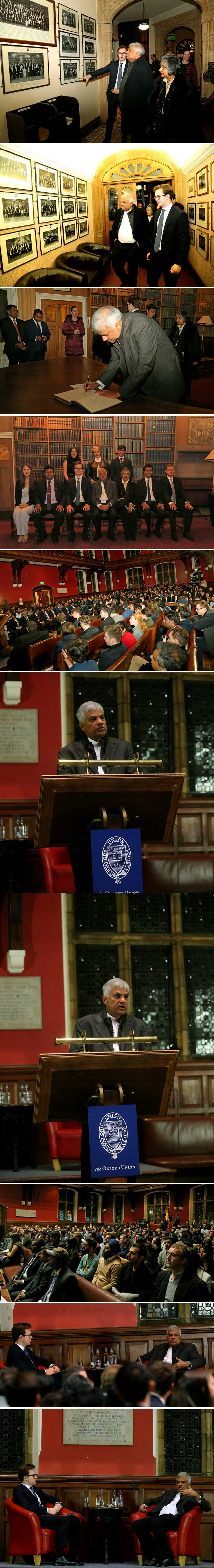 PM at University of Oxford…