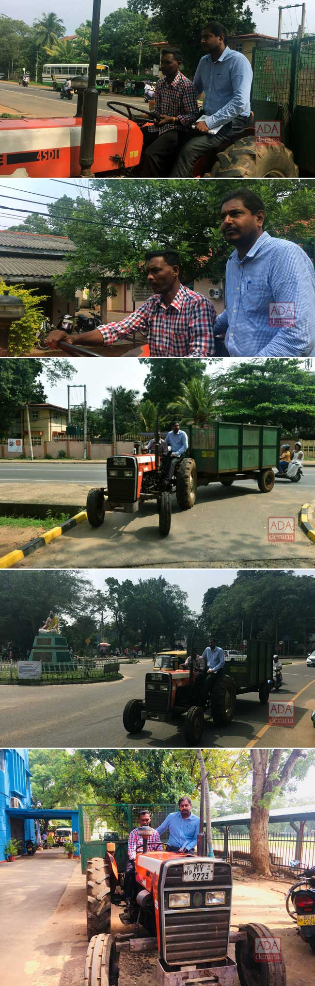 Vavuniya UC Chairman rides garbage tractor to meeting