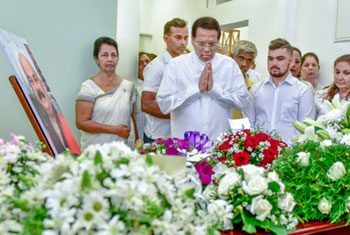 President pays final respects to Ronnie Leitch...