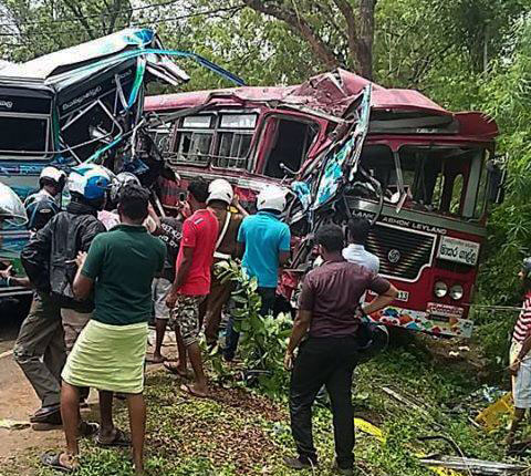 Over 50 injured in head-on collision between buses