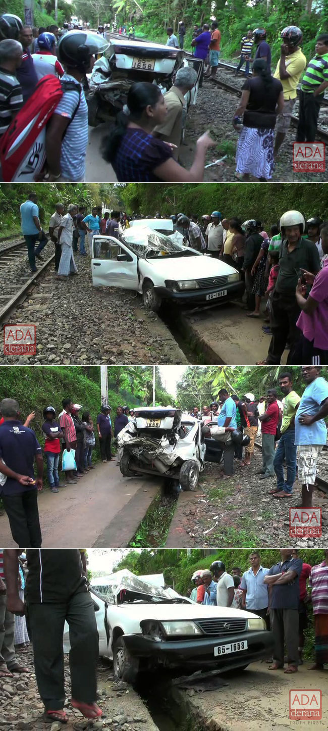 Man dies after train hits car, wife escapes unharmed