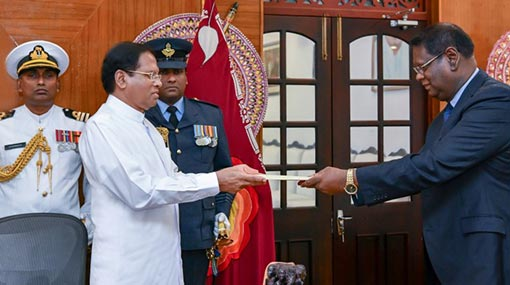 Justice Nalin Perera sworn in as new Chief Justice