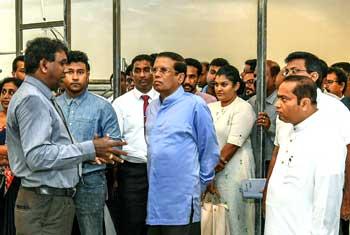 President in Polonnaruwa…