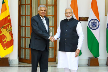 Ranil and Modi discuss India-assisted development projects