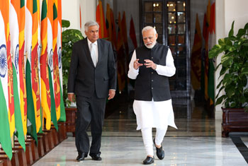 Ranil meets Modi...