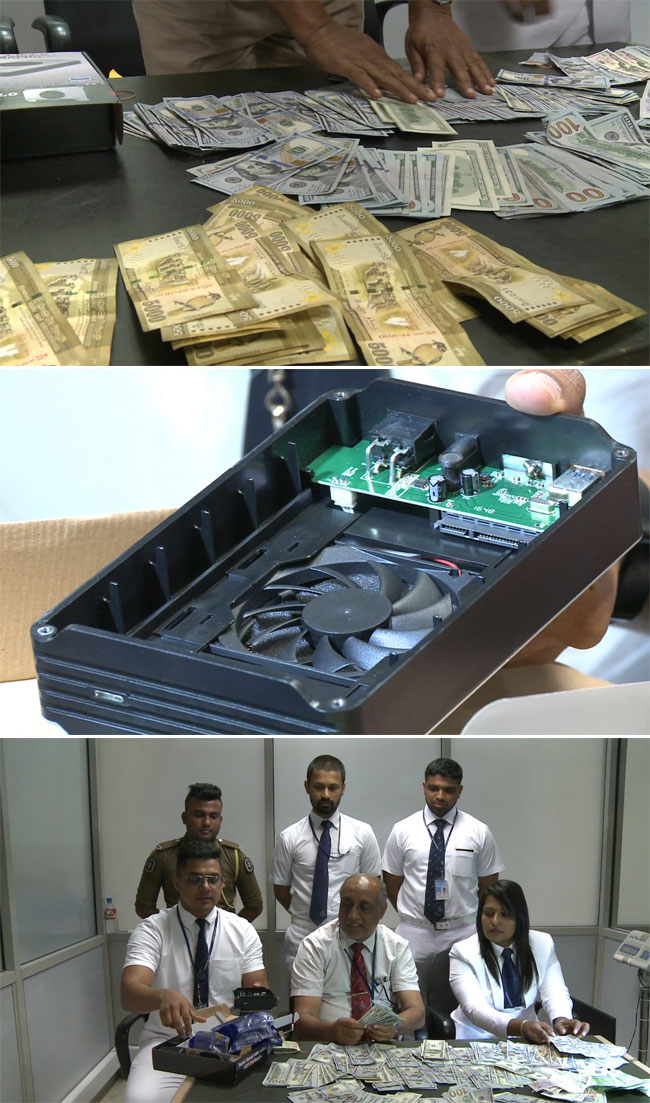 Foreign currency worth over Rs 6.4m concealed in computer parts