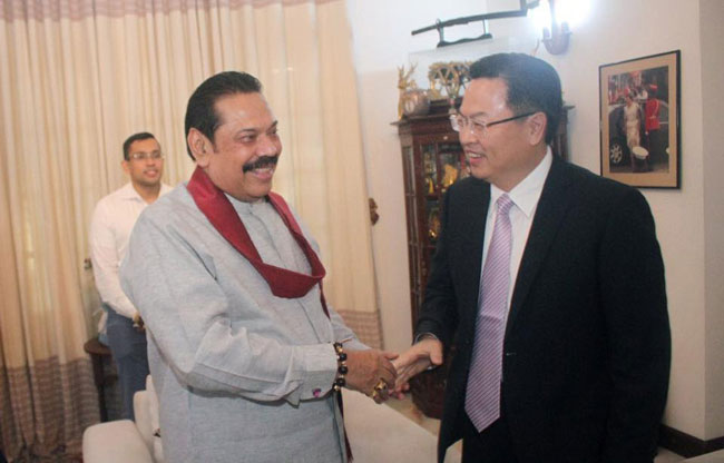 Chinese Ambassador calls on Mahinda and Ranil