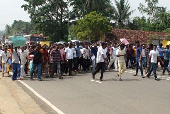 Protest against Speaker...