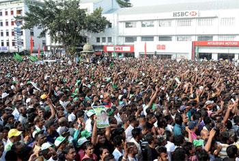 UNP protest in Colombo...