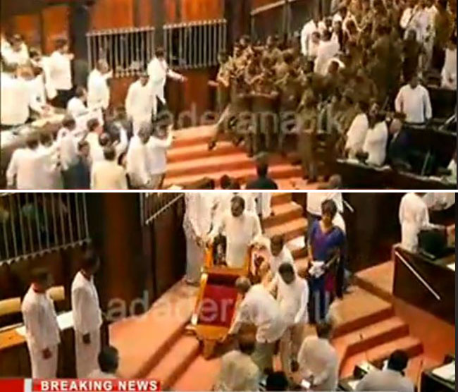 Police enter Parliament chamber