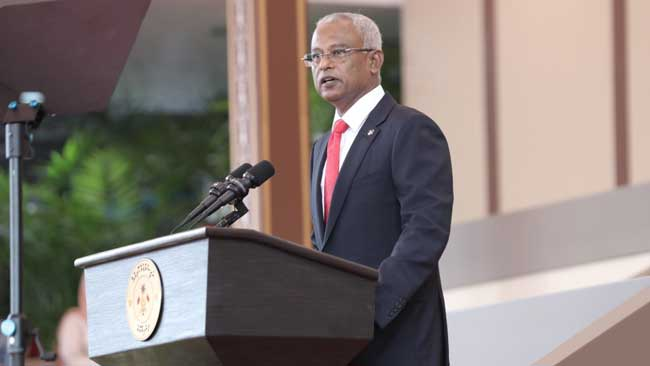 Ibrahim Solih sworn in as new Maldives president