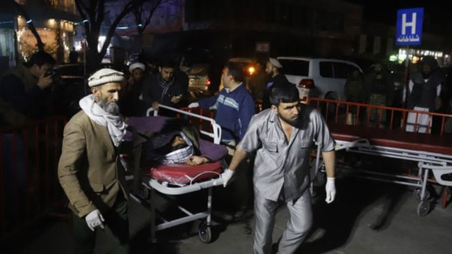 Kabul suicide bomb attack kills at least 40 at gathering of clerics