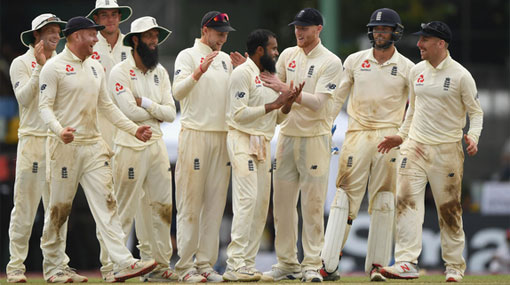 Sri Lanka all out for 240 against England