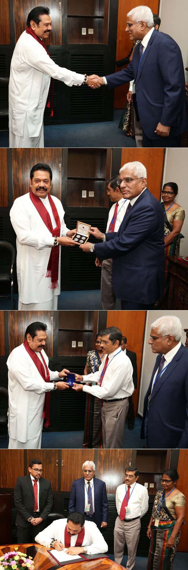 New coins presented to PM...