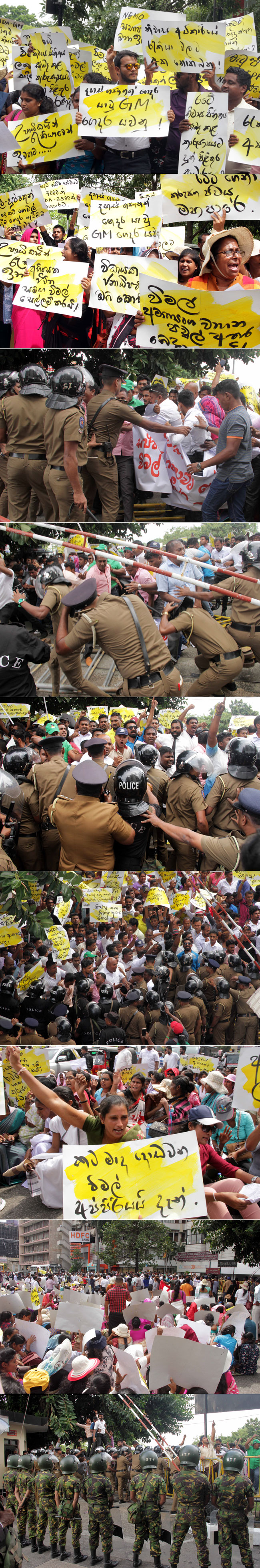 Protest against Wimal...