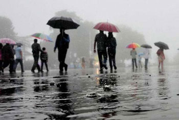 Thundershowers expected in sea areas