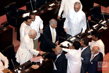 Ranil wins vote of confidence...