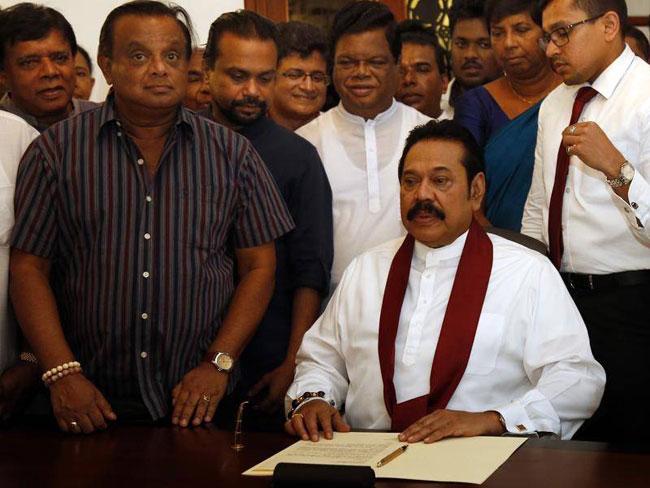 Mahinda Rajapaksa's resignation letter to President