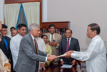 Ranil Wickremesinghe sworn in as PM...