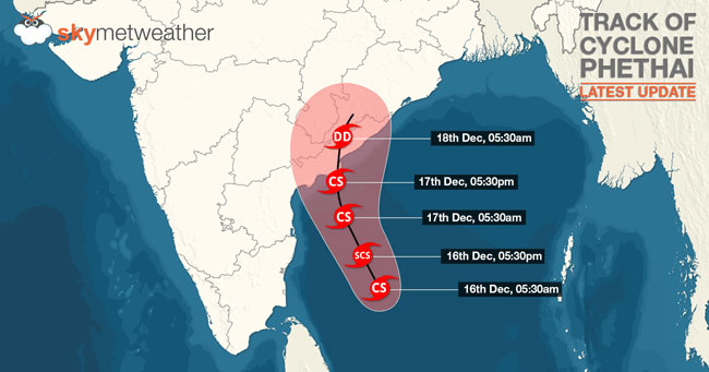 Cyclonic storm 'Phethai' moving away from Sri Lanka
