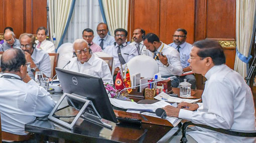 Presidential Task Force in North & East meets with President