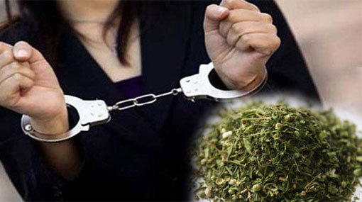 Fifty-five year old woman arrested with Cannabis