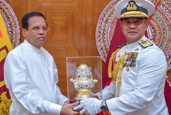 New Navy Chief calls on President...