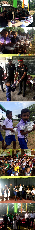 Manusath Derana supplies school equipment to North…