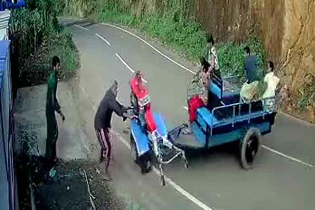 Out-of-control tractor falls off cliff, injuring woman and child