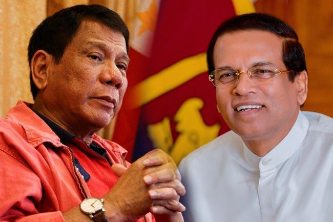 President Sirisena meets Philippine President