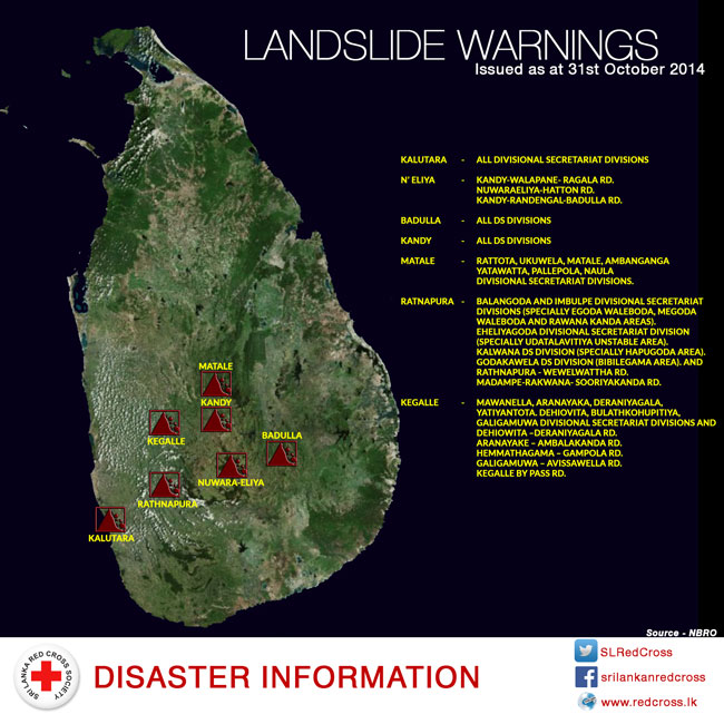 Seven districts monitored for possible landslide situation