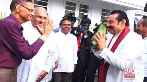 Mahinda Rajapaksa assumes duties at Opposition Leader's Office