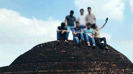 7 university students arrested for taking photos on Kiralagala stupa
