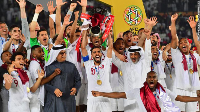 Qatar stuns Japan to win Asian Cup