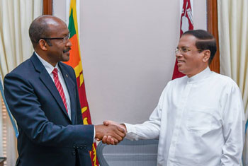 President meets VP of Seychelles...