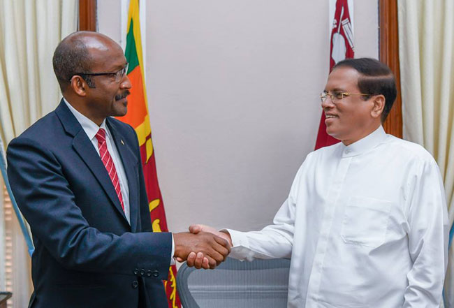 President meets VP of Seychelles...