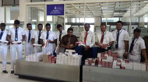 Foreign cigarettes worth over Rs 1.6 mn seized at BIA