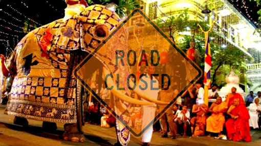 Traffic restricted for Navam Perahera