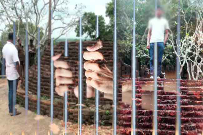 Bail rejected for two youths arrested over photos on stupa