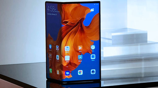 Huawei Mate X smartphone folds face out