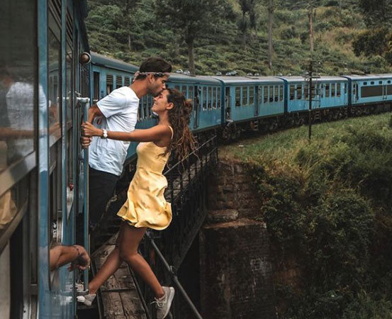 Why photo of couple kissing on train in Sri Lanka has been slammed online